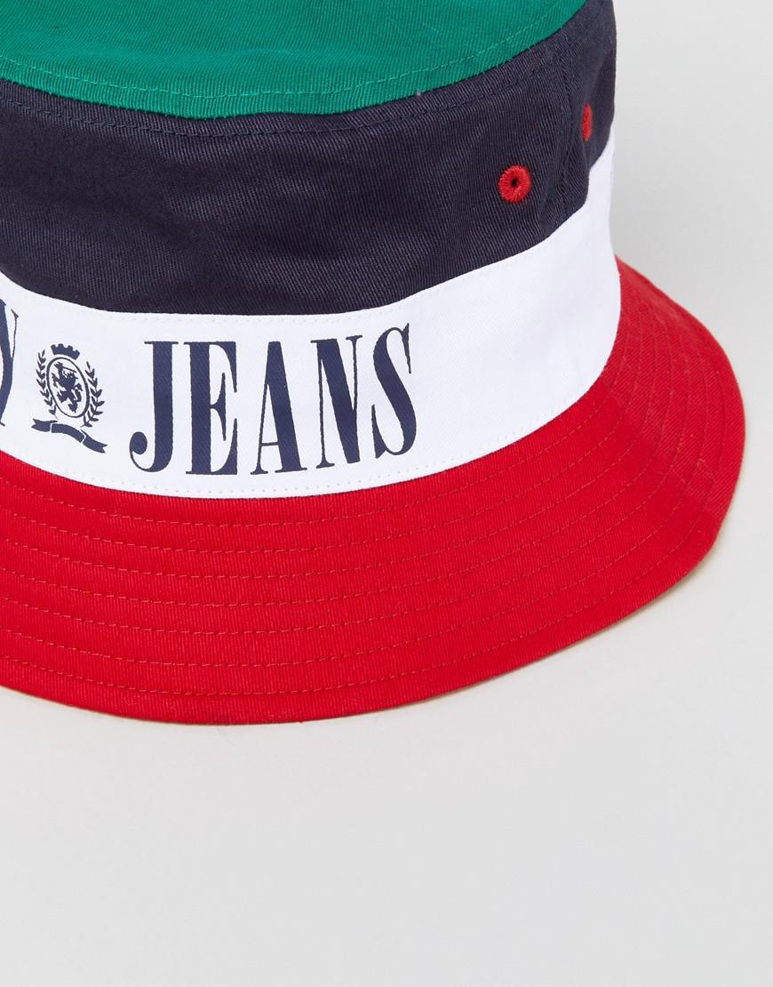 5cb2ed1df1698 Tommy Hilfiger Tommy Jean 90s Capsule Bucket Hat - Lyst
