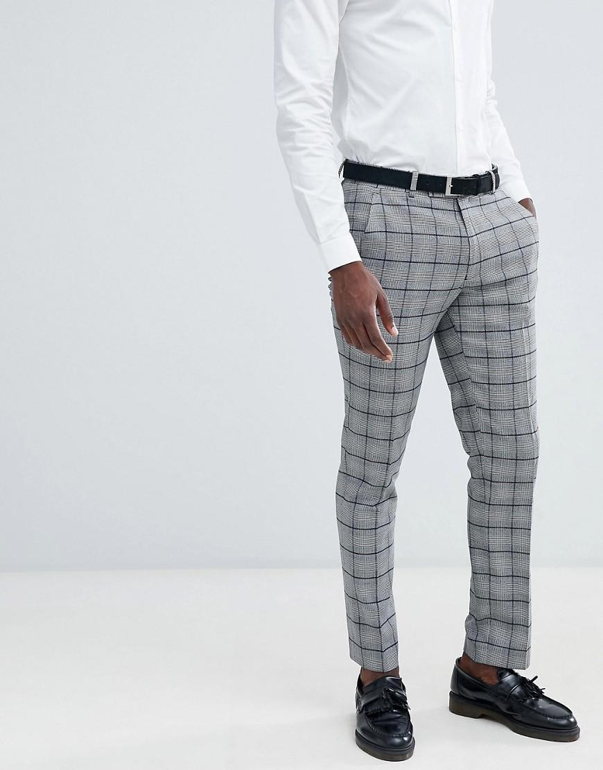 Galles Prince Carreaux De Homme Costume Pantalon Pour Asos Slim Smugqzpv eWYbDH29IE