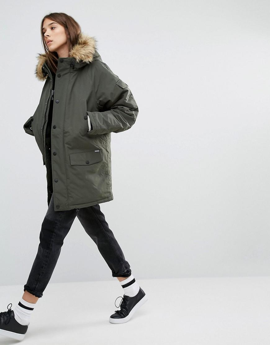 f7e863458b Carhartt WIP Oversized Anchorage Hooded Parka Jacket With Removable ...