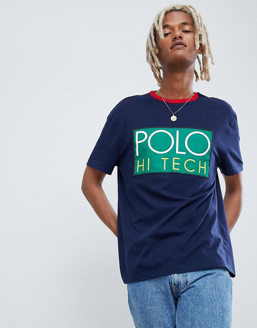de91fe692 Polo Ralph Lauren River Blue Marl Custom Fit T Shirt