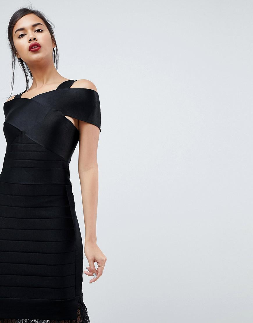 fcb720df63b French Connection Solar Spotlight Lace Midi Dress in Black - Lyst