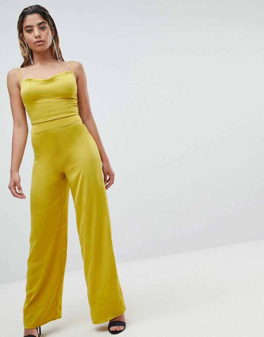 7dbf1eaffd1 Missguided - Yellow Wide Leg Jumpsuit - Lyst. View fullscreen