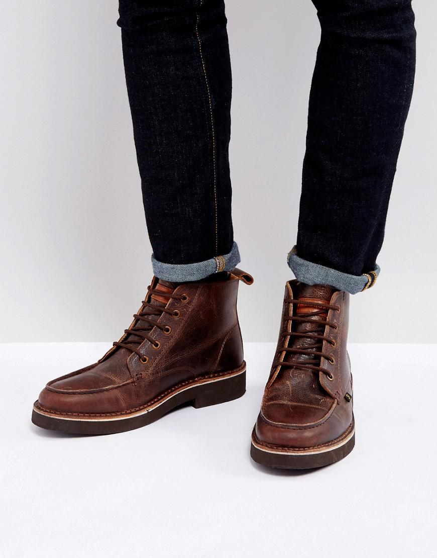 East Lace Up Boots - Brown Farah Cheap Authentic Outlet gbht1
