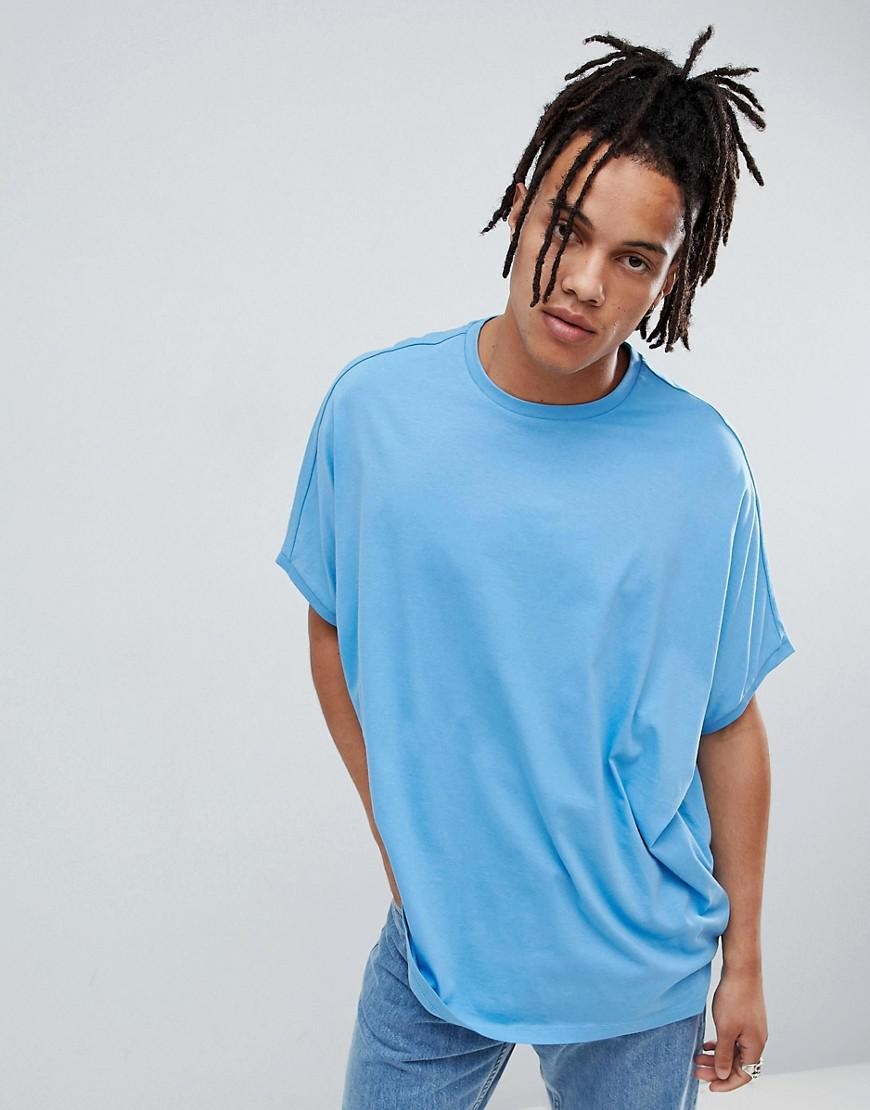 d1b78cf9 Asos Extreme Oversized T-shirt In Blue in Blue for Men - Lyst