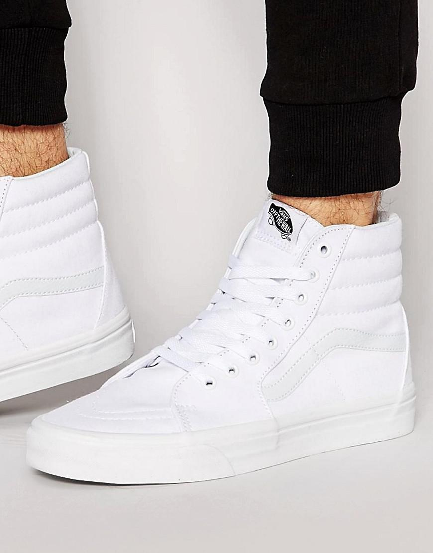 a1d47746356415 Vans Sk8-hi Trainers In White Vd5iw00 in White for Men - Lyst