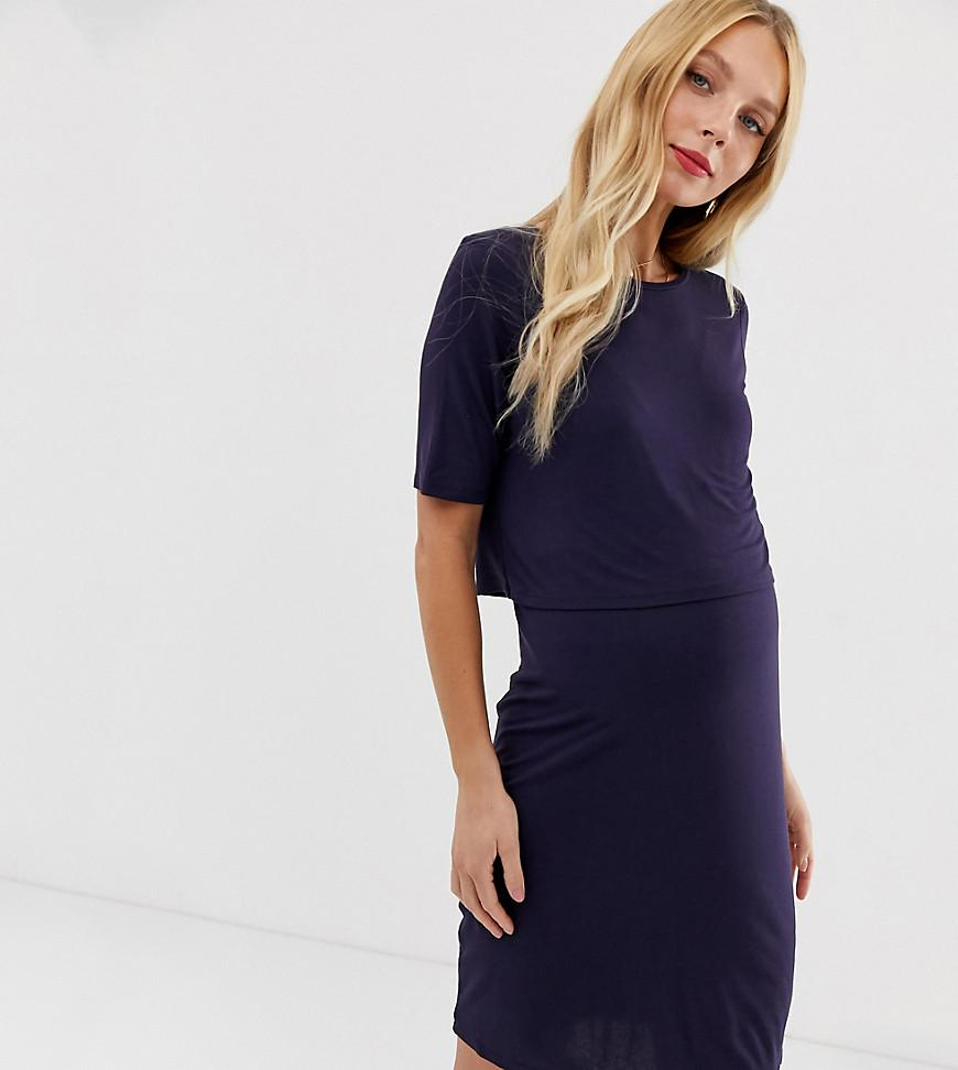988306a9e3d New Look Nursing Dress In Navy in Blue - Lyst