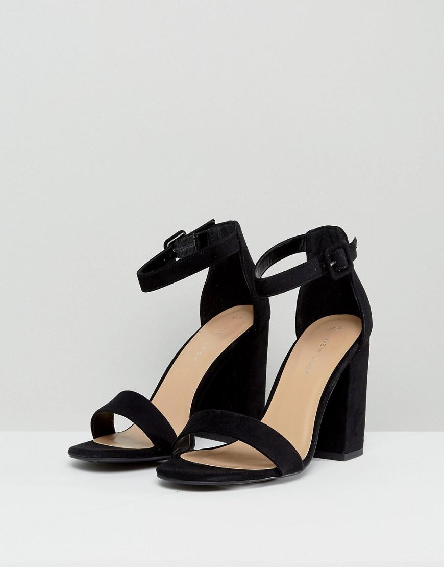 0f5e8991e73 Lyst - New Look Barely There Block Heeled Sandal in Black