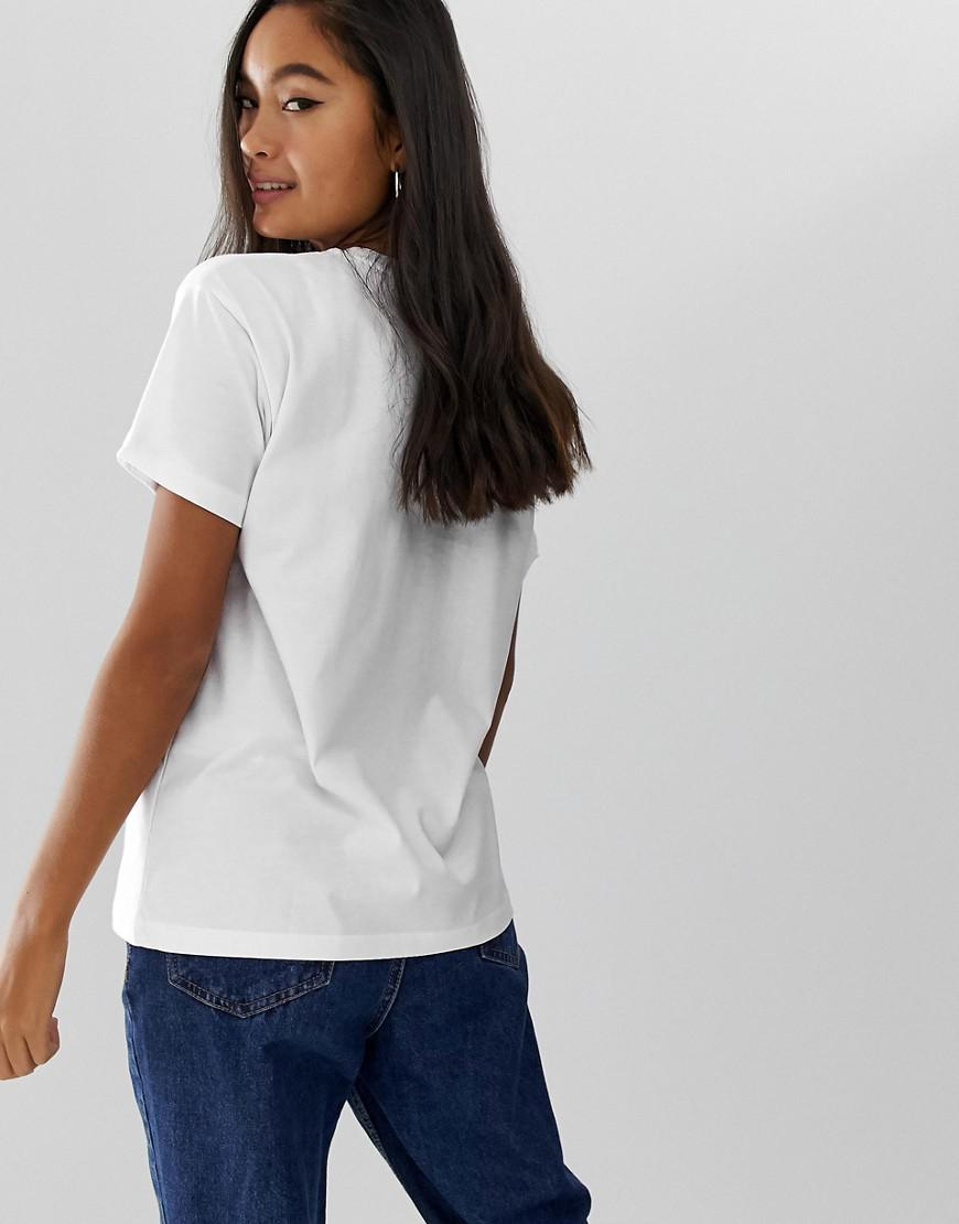 7fe804a5 ASOS T-shirt With Taurus Gemini Cancer Leo Starsign Print in White - Lyst