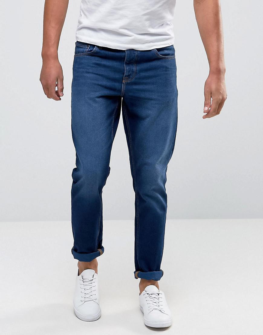 ASOS. Men's Blue Slim Jeans In Dark Wash