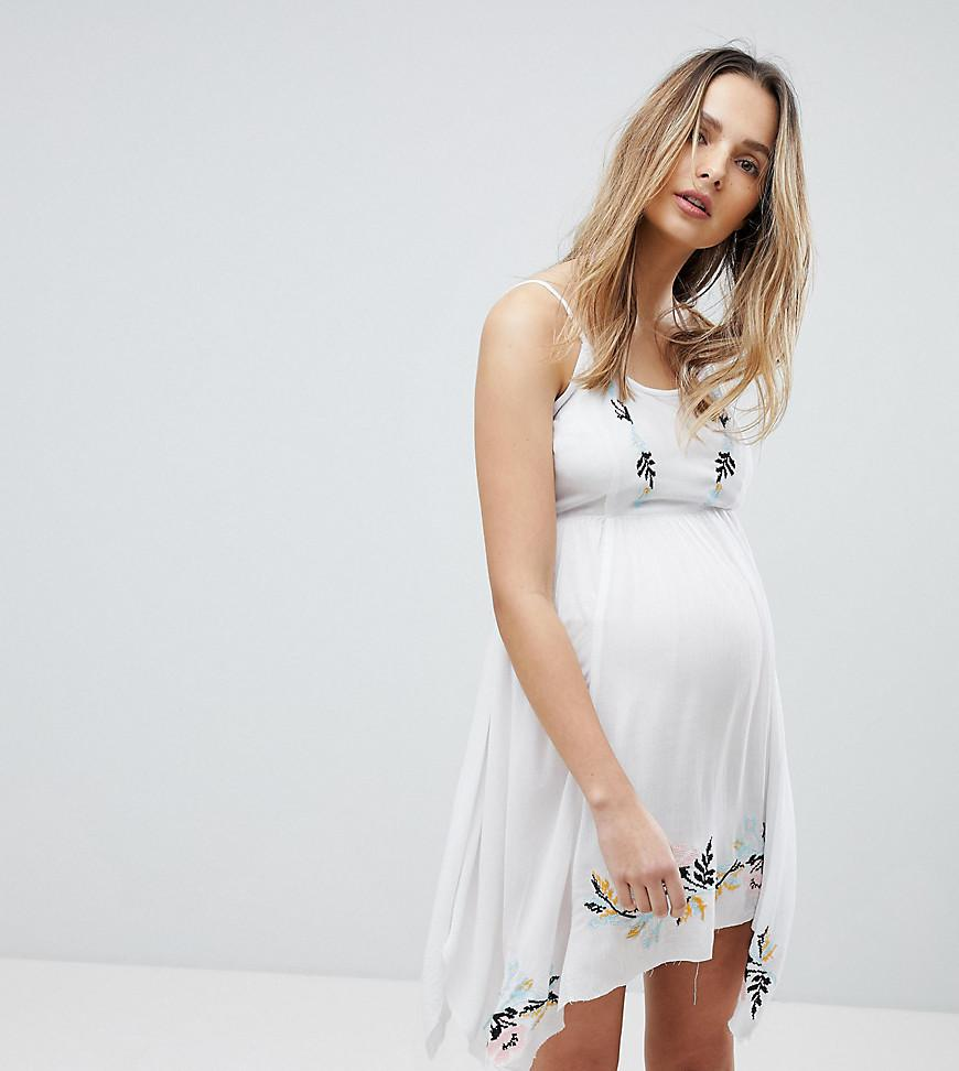 8605389b95 Lyst - ASOS Asos Design Maternity Floral Cross Stitch Embroidered ...