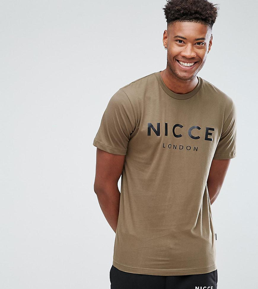 f79cee25 Nicce London Tall Logo T-shirt In Green in Green for Men - Lyst