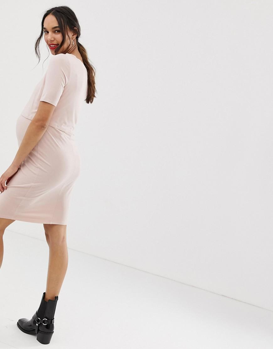 8af62a4d491 Lyst - New Look Nursing Dress In Nude in Pink