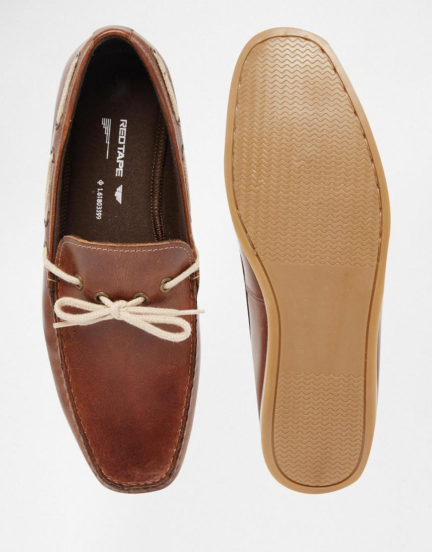979039dedfd Red Tape Driving Loafers In Tan Leather - Tan in Brown for Men - Lyst