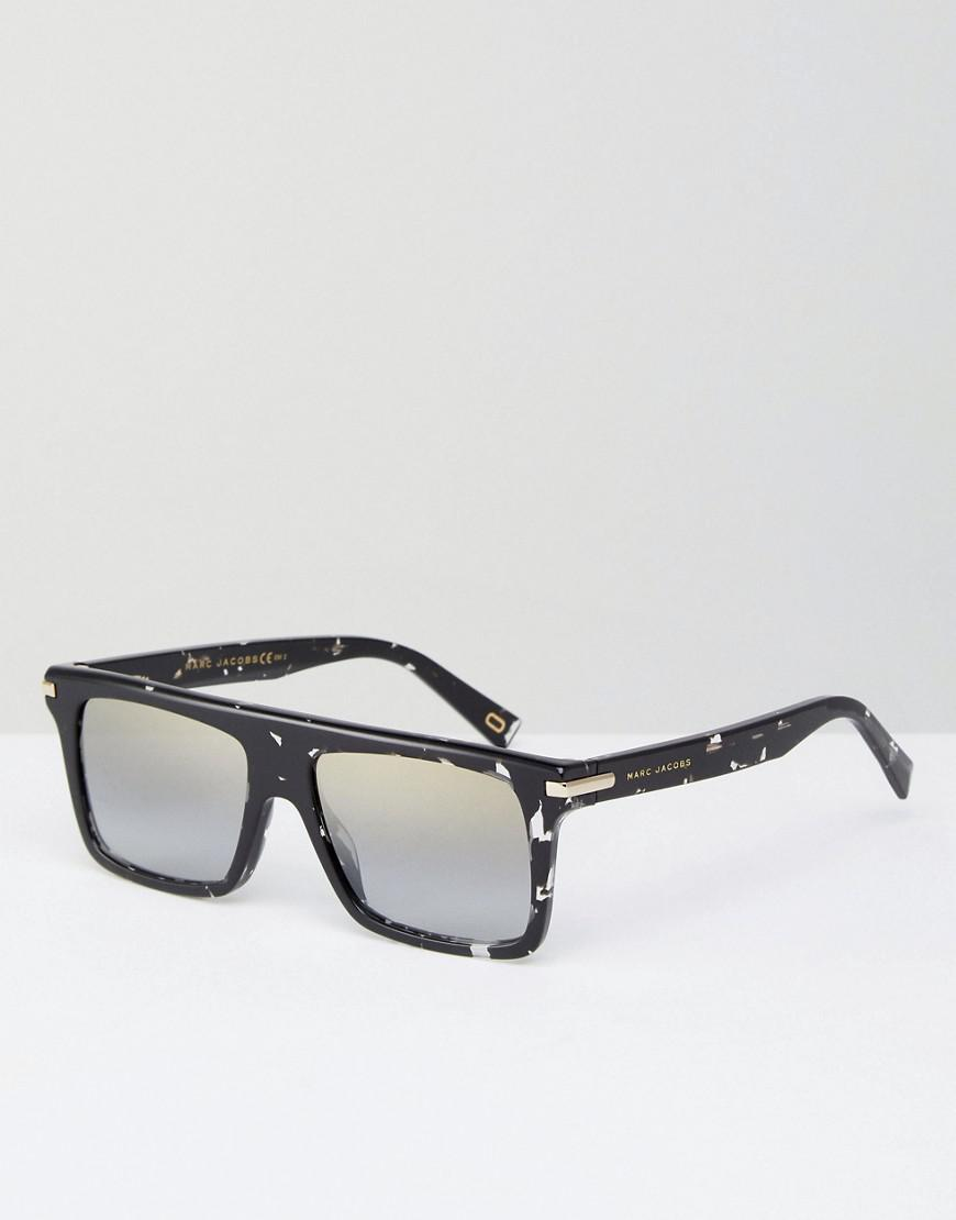 Tinted Lens Square Frame Sunglasses with Splatter Finish - Black Marc Jacobs giNii