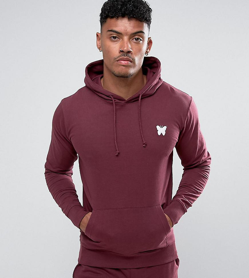 Hoodie In Burgundy with Chest Logo Exclusive to ASOS - Red Good For Nothing Cheap With Credit Card 1pUmGh