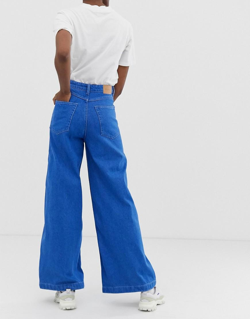 ca30767bd7be Lyst - Weekday Beat Super Wide Leg Jeans In Bright Blue in Blue