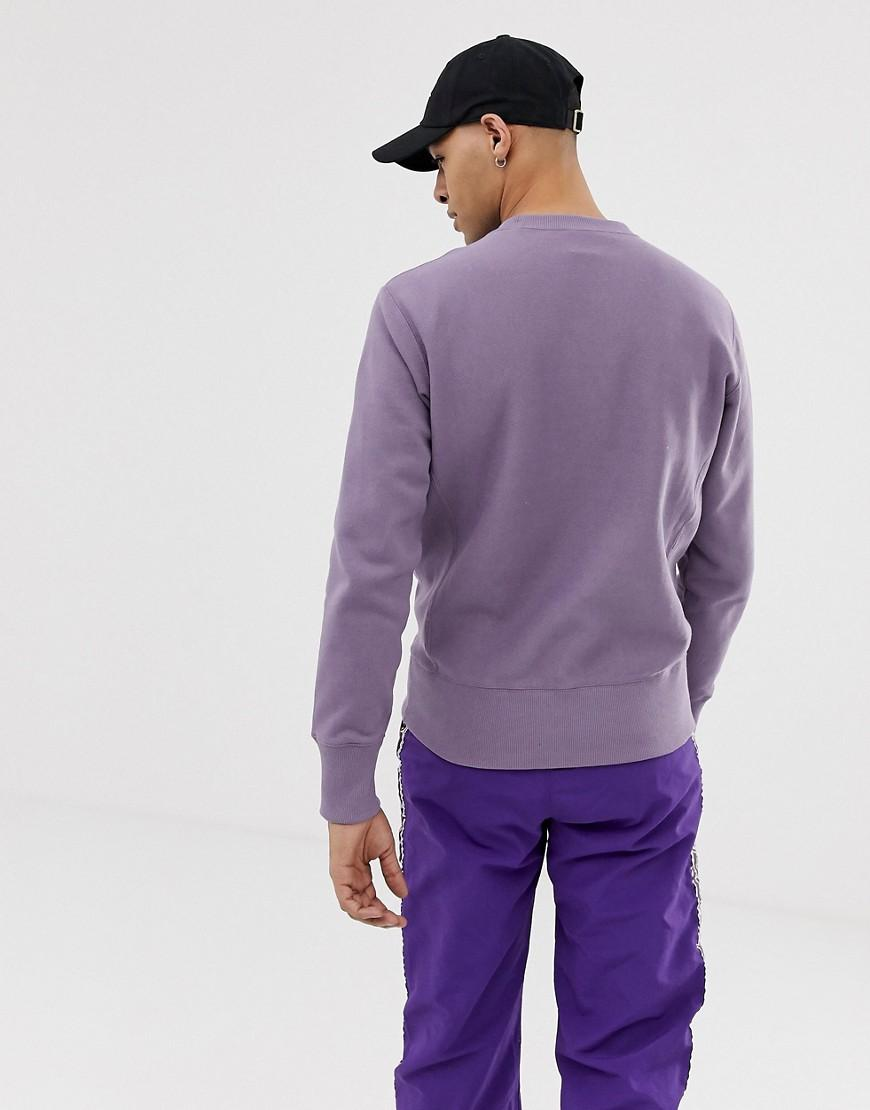 d48d15013135 Champion Sweatshirt With Large Logo In Purple in Purple for Men - Lyst
