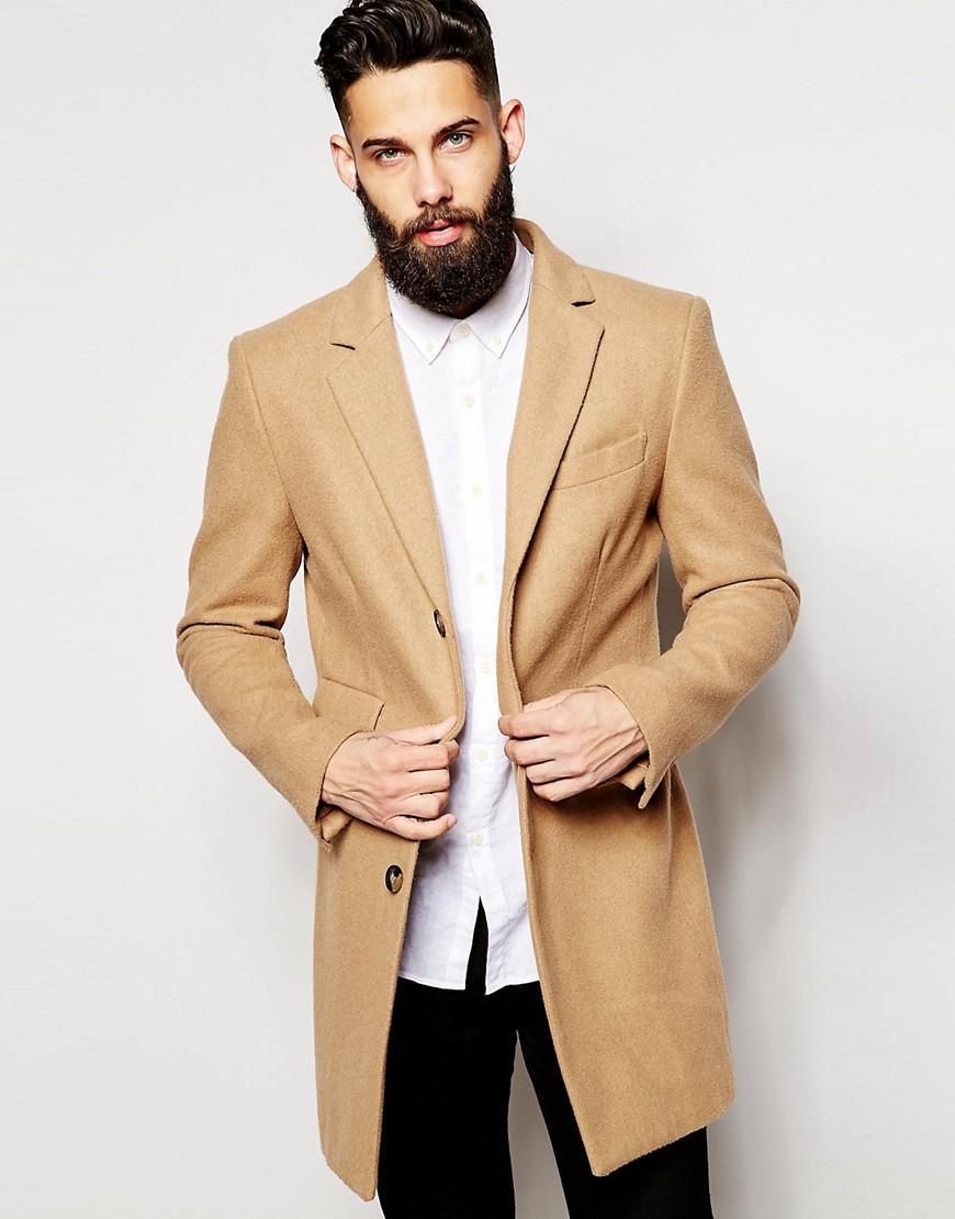 farah overcoat in natural for men lyst. Black Bedroom Furniture Sets. Home Design Ideas
