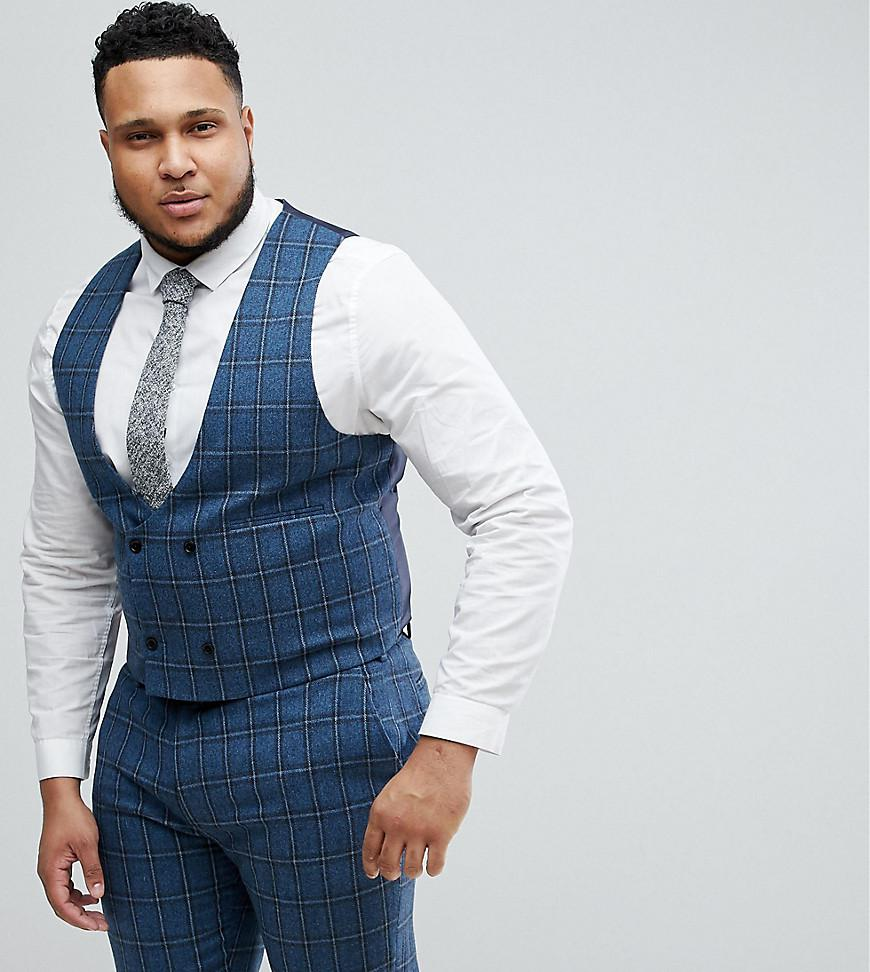 4490fe1732f69c asos-blue-Asos-Plus-Skinny-Suit-Waistcoat-In-Blue-Gradient-Wool-Blend-Check.jpeg