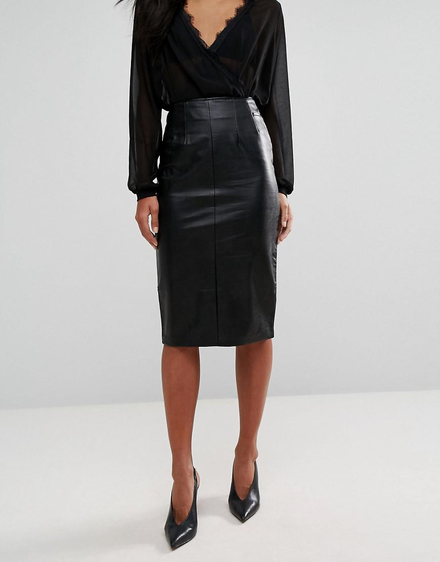 a8ca0bd7a6 Oasis Faux Leather Croc Skirt – DACC