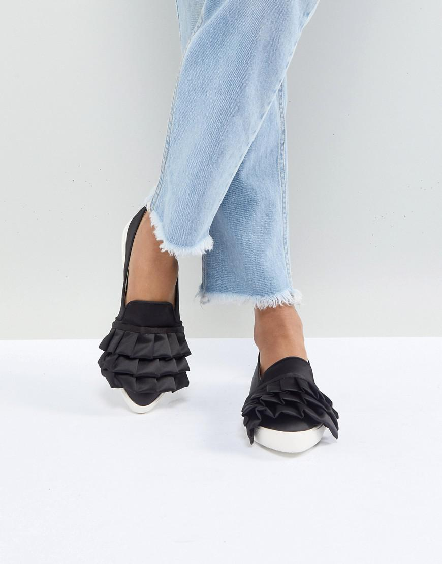 cheap websites Miss KG Livia Satin Ruffle Plimsolls ebay collections cheap online sneakernews cheap online buy cheap latest 5rbNgj12RJ