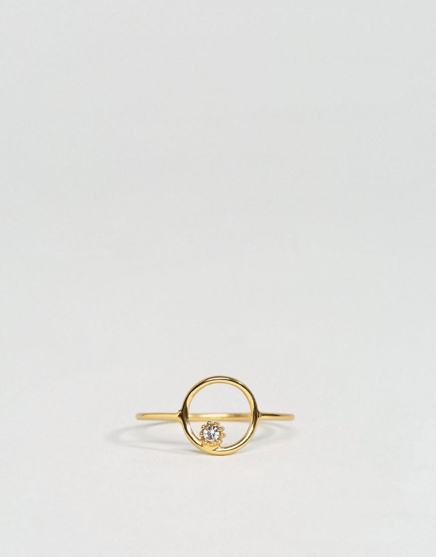 DESIGN Sterling silver open circle ring - Silver Asos Ye7vkb