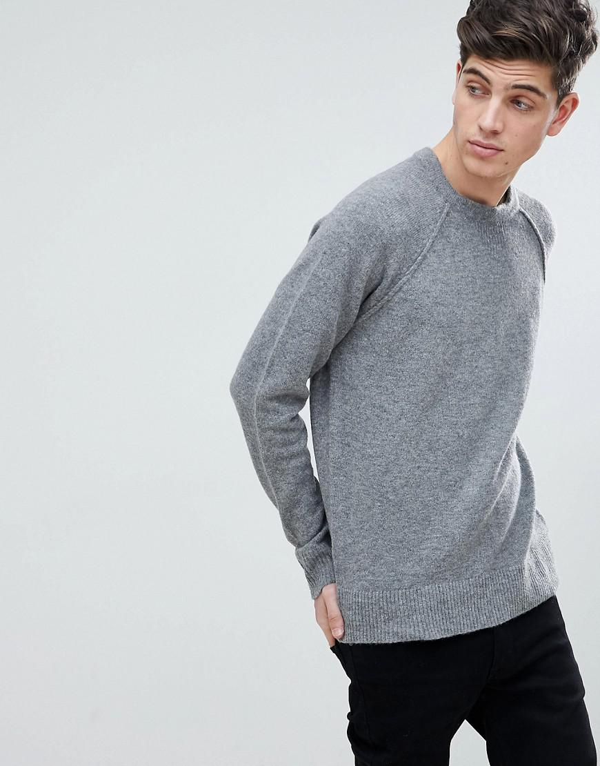 110f02a1261 Lyst - Mango Man Textured Knit Sweater In Gray in Gray for Men