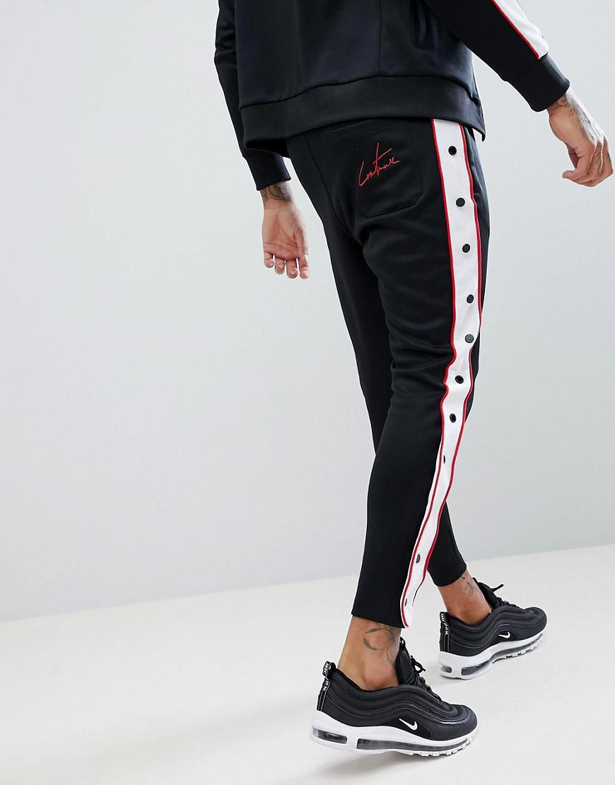 Lyst - Pantalon de jogging skinny moulant boutons-pression The Couture Club  pour homme en coloris Noir 8012a27a74e