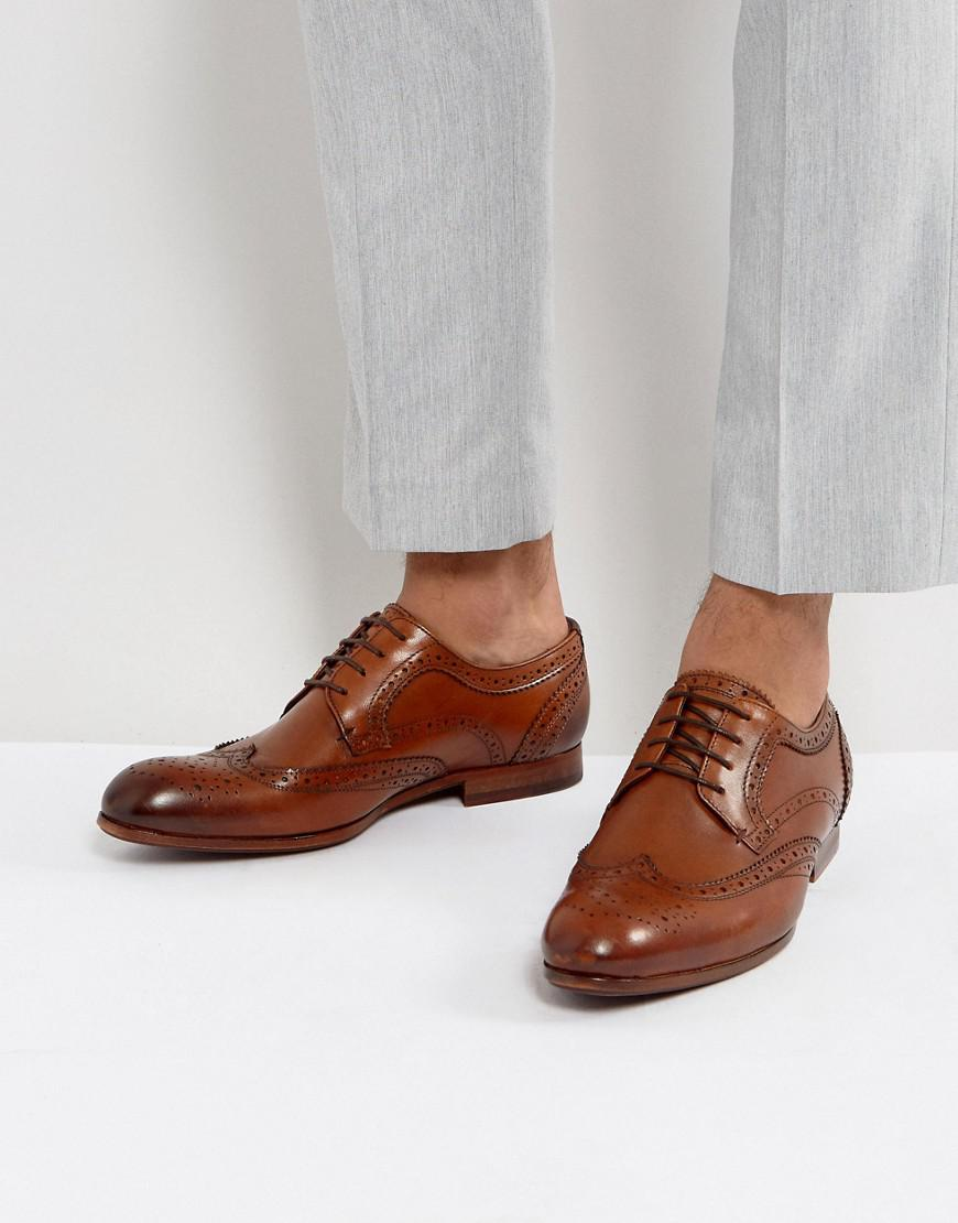 2471bf28557d3 Ted Baker Granet Leather Brogue Shoes In Tan in Brown for Men - Lyst