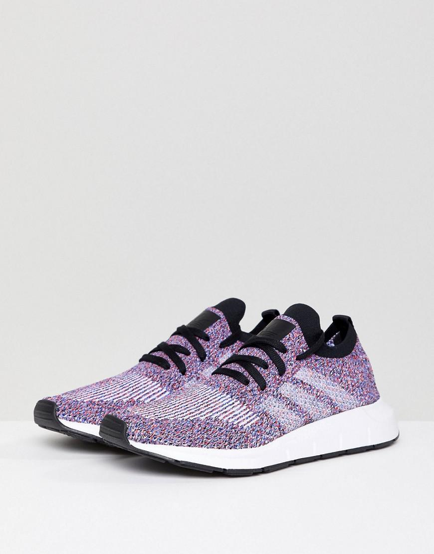 59272ec015ca1 Lyst - adidas Originals Swift Run Primeknit Sneakers In Multi in Black
