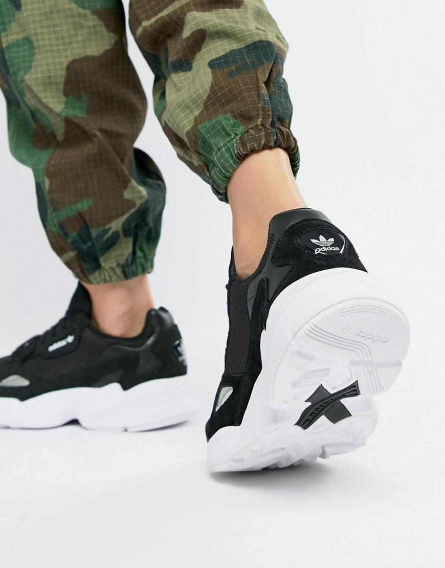 Adidas Originals Falcon Sneaker In Black And White In Black Lyst