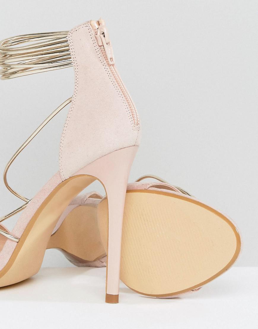 Hollywood Blush Heeled Sandals - Pink Office 6bDkR