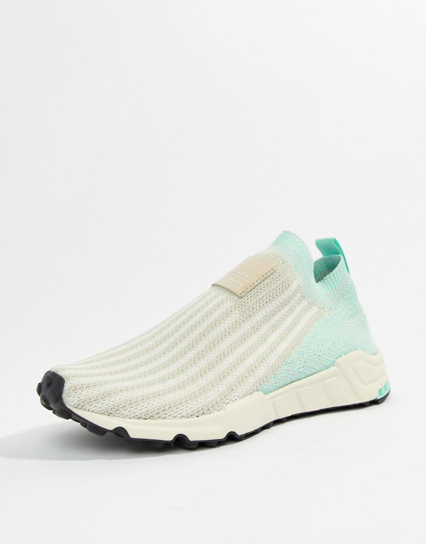 Lyst - adidas Originals Eqt Support Sock 1 3 Sneakers In White And ... fabd3967aa2c