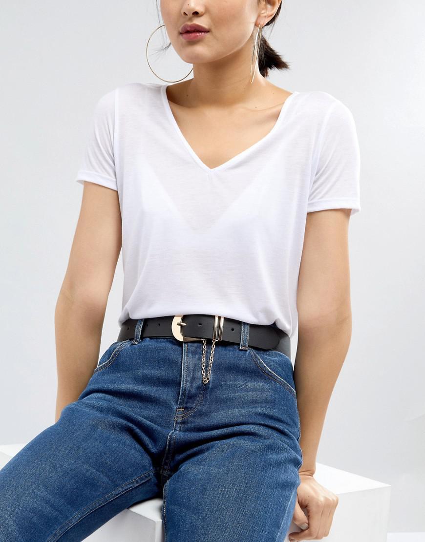 Stud Detail Jeans Belt - Black Asos Nh8kcLl