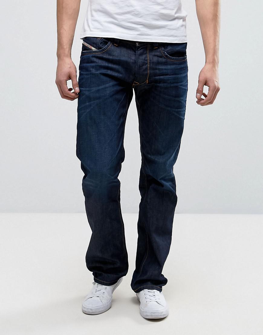 9117629a DIESEL Larkee Straight Fit Jeans In 0806w Dark Wash in Blue for Men - Lyst