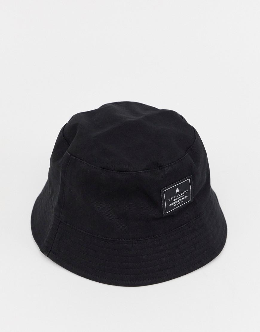 44e9827340558 Lyst - ASOS Asos Bucket Hat In Black With Patch in Black for Men - Save 22%