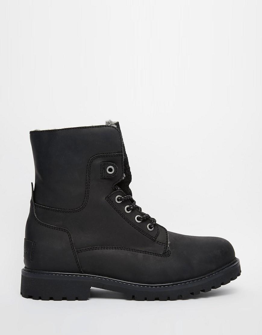 Lyst Wrangler Aviator Boots In Black For Men