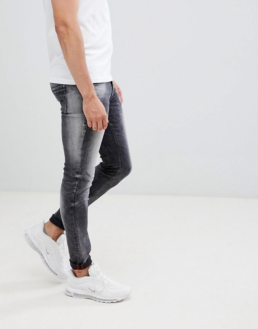 4d42c0a52b2e Blend - Distressed Super Skinny Jeans In Washed Black for Men - Lyst. View  fullscreen