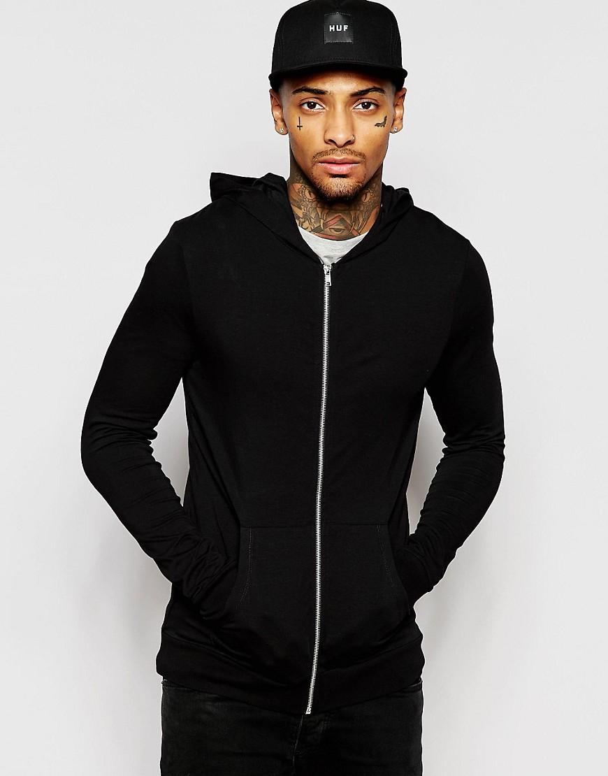 Black lightweight hoodie