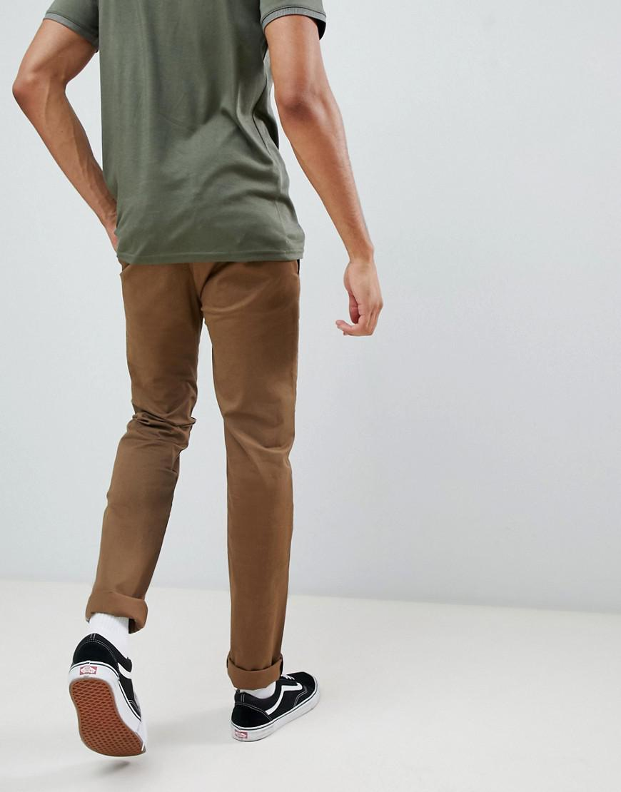 c44a661a1e73 Ted Baker Tall Slim Fit Chinos With Pocket Detail In Camel in Brown for Men  - Lyst