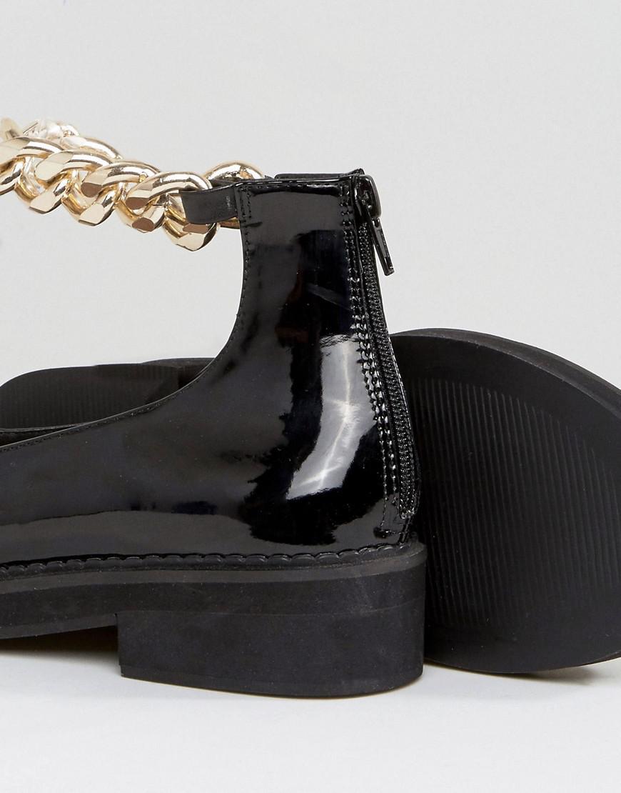 45d4bfe6e ASOS Mingle Chunky Flat Shoes in Black - Lyst