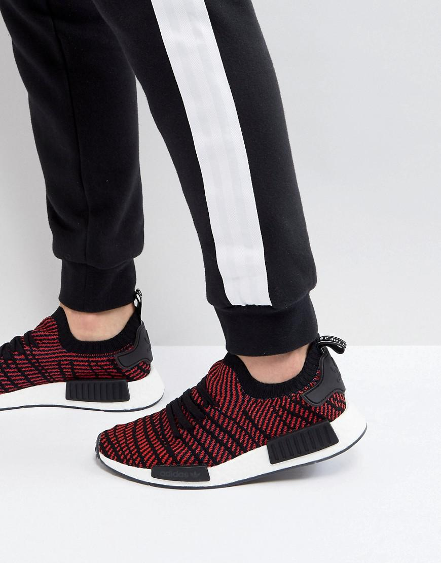 adidas Originals Nmd R1 Stlt Primeknit Trainers In Black Cq2385 in ... c5d306922