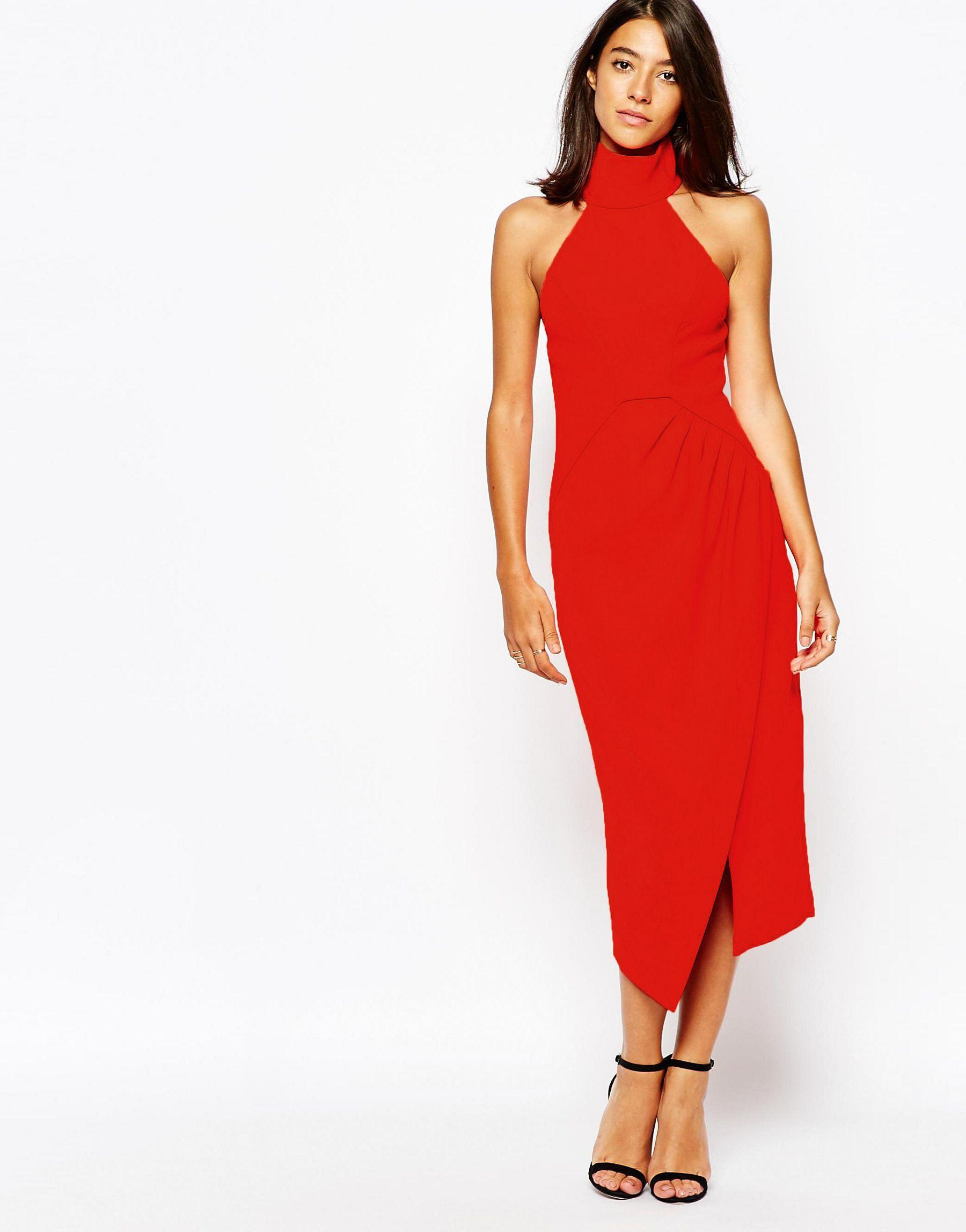 17ad968bd01 Lyst - C meo Collective Kiss Land Midi Dress In Red in Red