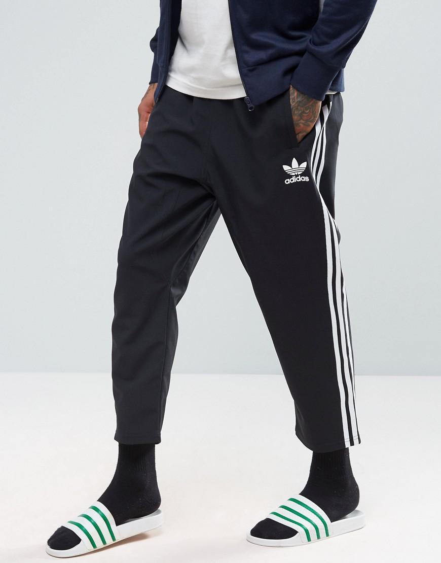 Lyst Adidas Originals Ac 7 8 Joggers In Black Bk0017 In