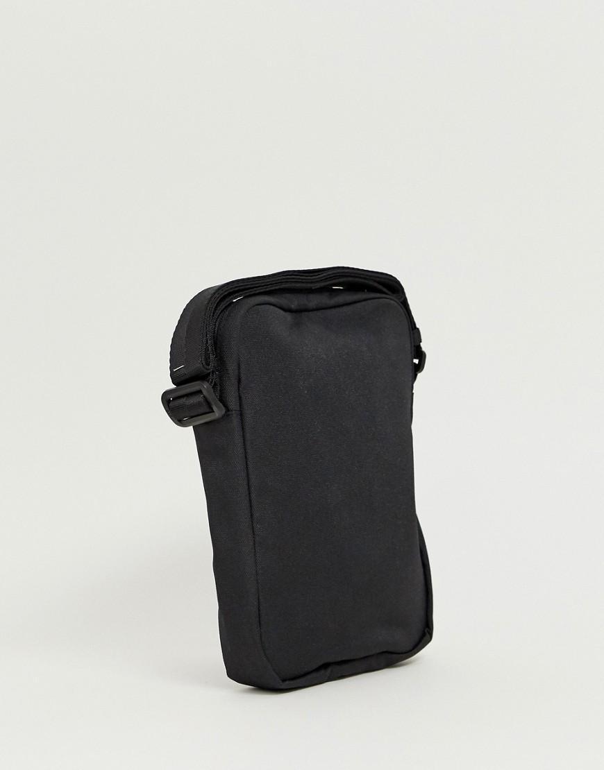 011b8a90d32 Armani Exchange Nylon All Over Logo Flight Bag In Black in Black for Men -  Save 40% - Lyst
