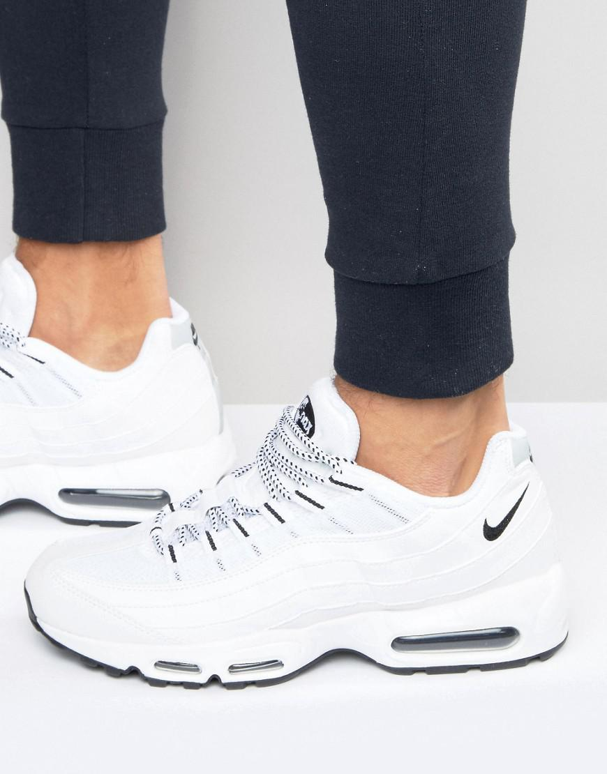 finest selection b9173 60b07 Nike - Air Max 95 Trainers In White 609048-109 for Men - Lyst. View  fullscreen