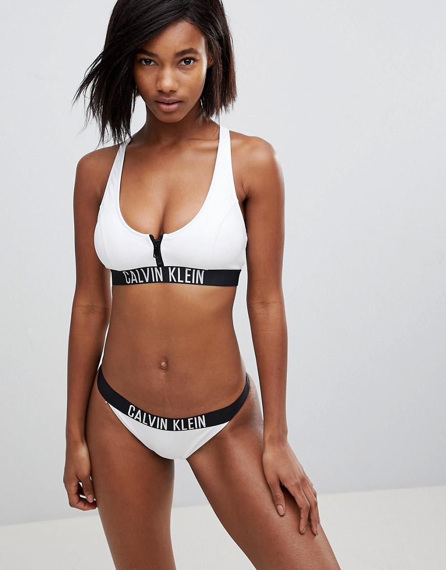 Sale Purchase Outlet Store For Sale Brazilian Logo Swimsuit - White Calvin Klein Shop pHdwZF0eMq