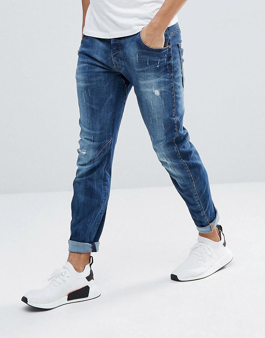 lyst g star raw arc 3d slim jeans with abraisons midwash. Black Bedroom Furniture Sets. Home Design Ideas