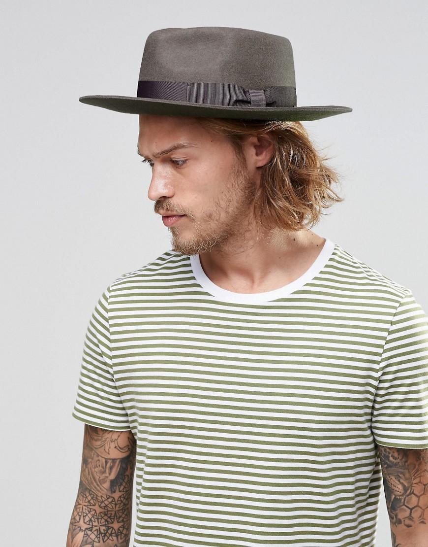 Brixton Fedora Hat Swanson In Brown For Men Lyst