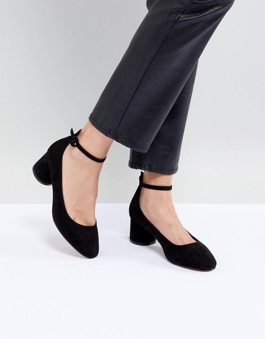 2d808ec8bab Lyst - ASOS Skyla Mid Block Heels in Black